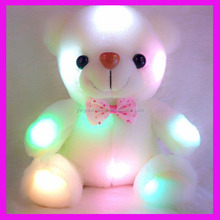 2018 Factory Wholesale Led Lighg Up Plush Teddy Bears, Lovely Soft Teddy Bear Shape Coloful Led Light Doll Toy Stuffed Animals
