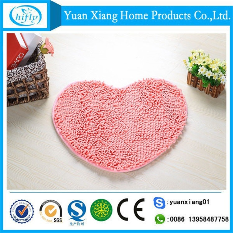 China supplier soft shaggy washable chenille anti-slip door mat