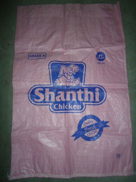 PP Woven Bag for packing frozen chicken