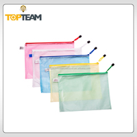 wholesale stationery vinyl transparent zipper bags for school