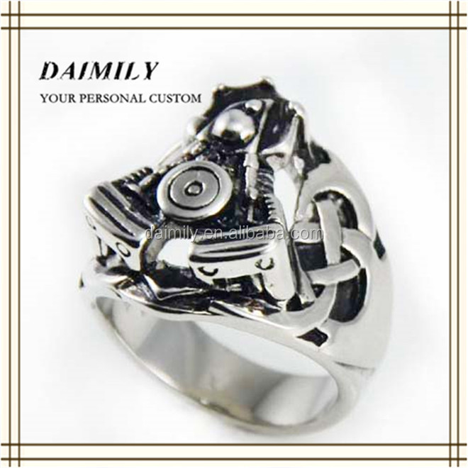 Daimily Jewelry Harley Biker Ring 316l Stainless Steel Rings fashion jewelry