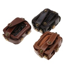 For Go Pro HERO6 /5 PU Leather Housing Case with Neck Strap & Buttons