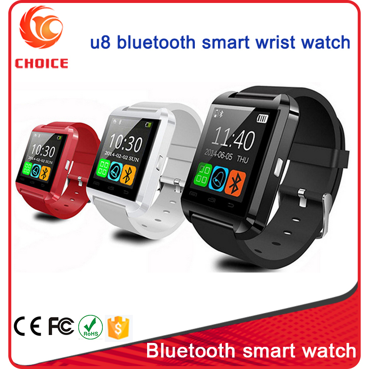 2016 Popular Factory Price 1.54 Inch 128*128 Screen Resolution And Touch Screen U8 Android Bluetooth Smart Watch Phone