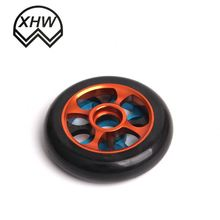 Blue color eslastic rubber wheel with nylon core 1 ton heavy duty pu caster wheel