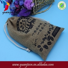 2015 China supplier high quality custom printed recyclable jute coffee bag packaging