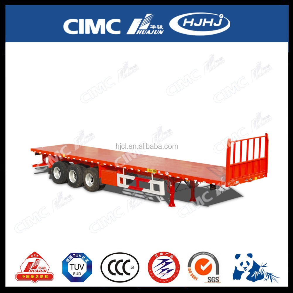40 feet flatbed poultry transport low bed truck trailer