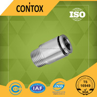 B101 MPOC union straight brass male tube stainless steel fittings,push pneumatic connector