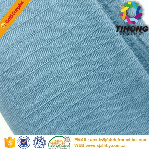 100% Cotton blue yellow plaid fabric from china