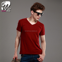 Summer Short Sleeve Lycra cotton high quality plain men T-shirt