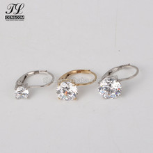 New Arrival solitaire big zirconia gold silver optional indian clip on earrings,earing silver 925