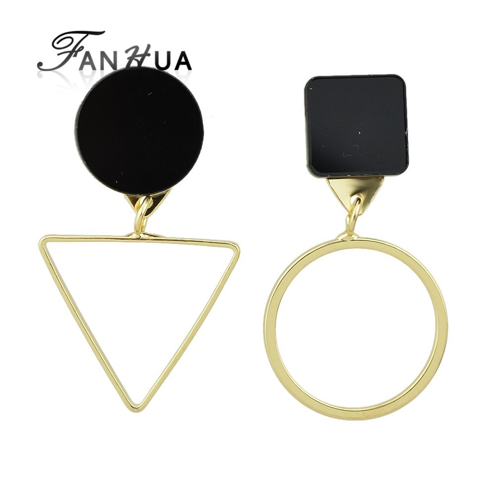 Different Shape Triangle Round Stud New Design <strong>Earrings</strong>