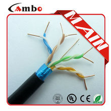 china manufacturing outdoor ftp cat5e cable CMR Riser/plenum 305m wooden spool