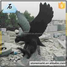 Garden decoration hand carving large granite stone eagle sculpture