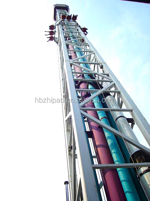 China popular large thrilling theme park ride drop tower ride for sale