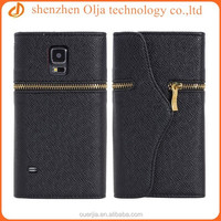 2014 luxurious zipper wallet leather case for samsung galaxy s5,waterproof cheap mobile phone case