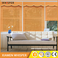 Clear Sunshade Curtains And European Style Custom Made Bamboo Blinds