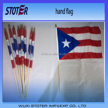 Puerto Rico nationa hand flags , Puerto Rico stick flags , Puerto Rico waving flags