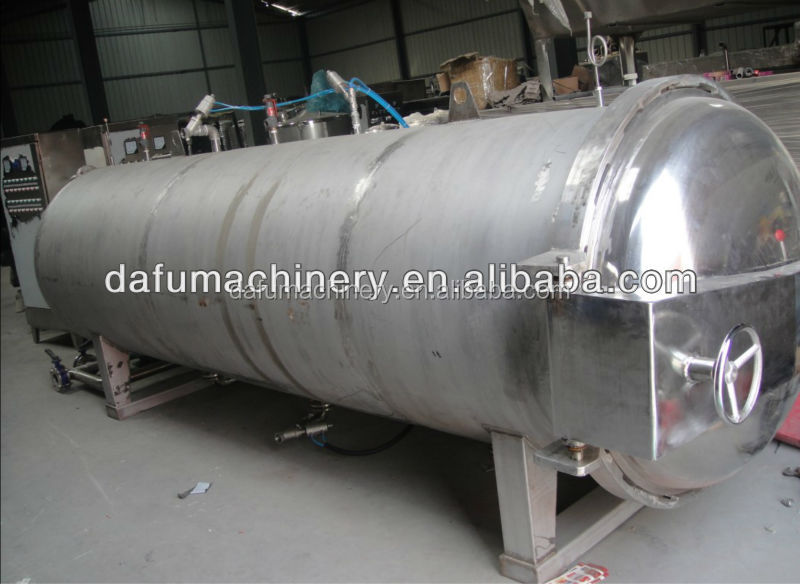 Deft design customized size autoclave sterilizer for food