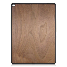 PC bottom stick wood case protective back cover cheap wooden case for iPad Pro