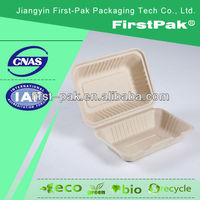 paper pulp disposable bamboo food containers