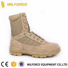 MILFORCE-Khaki suede cow leather army tactical military desert boots