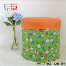 High Quality MDF Home Funiture Fabric Kids Folding Storage Stool