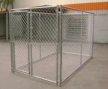 10' x 10' x 6'ft Large galvanized chain link outdoor dog kennel runs