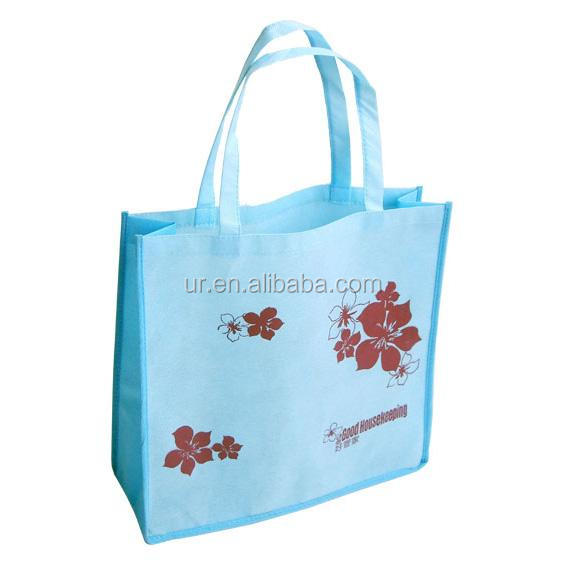 Grocery quality reusable nonwoven tote shopping bag with handle