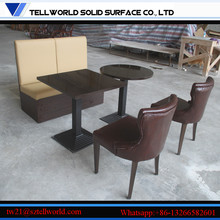 2017 Golden Factory HOT SELLING KFC Furniture Fast Food Table Chairs Booth Set