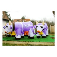 Hot sales outdoor advertising giant inflatable milka cow/inflatable cow/inflatable dairy cow model for sale