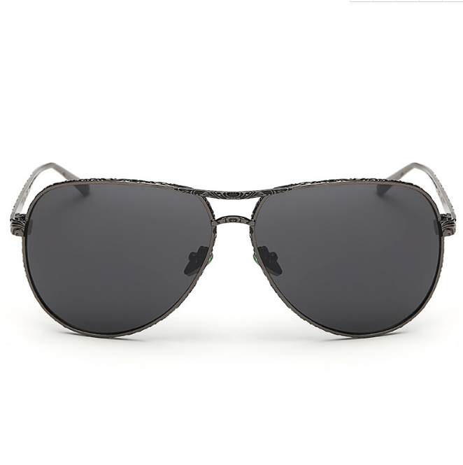 Free Sample Custom Logo Fashion Vintage Men Women UV400 Polarized/PC/AC Lens Metal Sunglasses