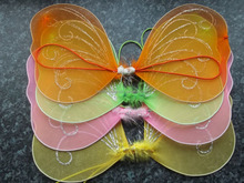 Small fabric fairy wings For childrens fancy dress hen night party elastic butterfly
