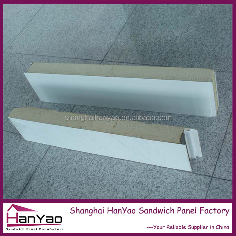 Shanghai HanYao 2016 Easy Installation Insulation Roof Sandwith Panel Polyurethane Sandwich Roofing Panel Fencing Panels