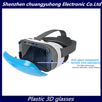 VISUAL SPACE VR 3D Glasses Anti-blue Anti-Glare Fit Mobile Phones 4-6 Inches New Open Sex Black Blue