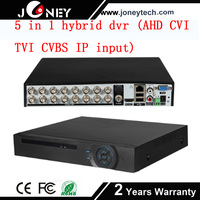Hybrid 5 in 1 hybrid dvr DVR 16 Channel H.264 Support Cloud function,P2P,Alarm push to mobile devices