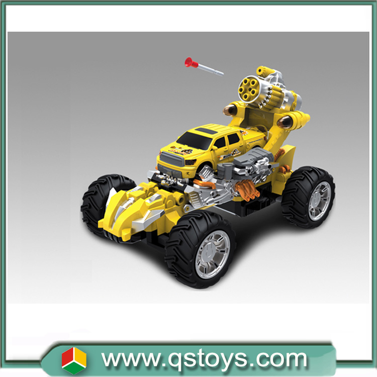 Fashion new 7CH infrared rc music deformation car emission target bomb with light in shantou