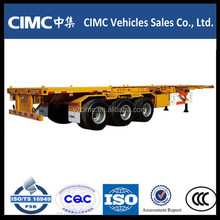 CIMC 3 axle 40ft skeletal skeleton container semi trailer for port transport
