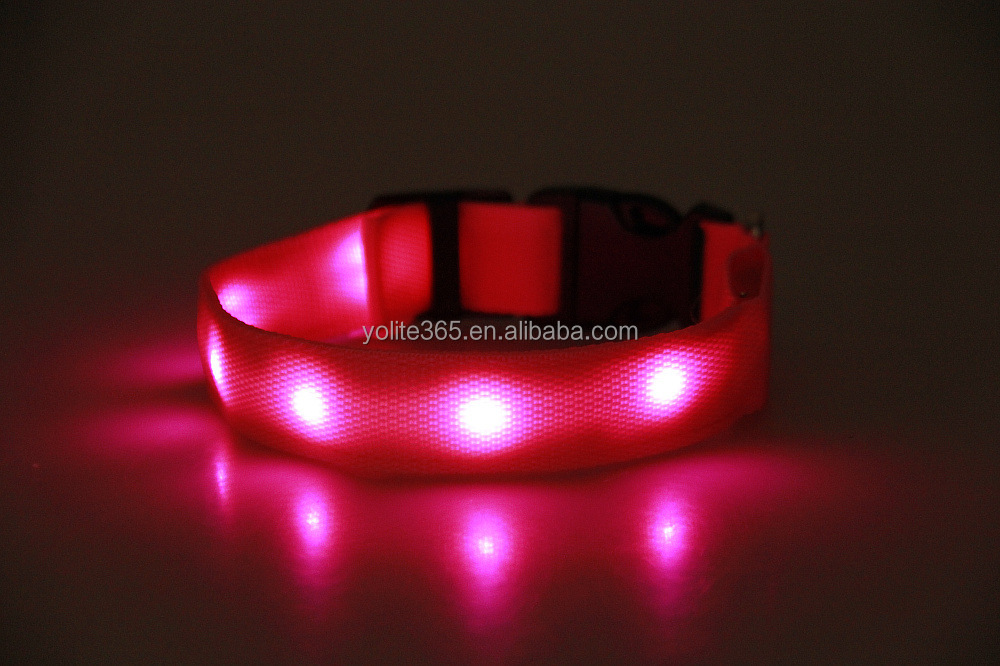 2016 New Cat Puppy Collar Dog Accessories USB Rechargeable LED Flashing Collars