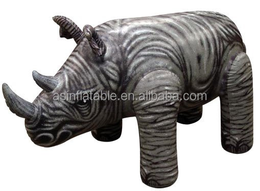 Advertising inflatable animal, black inflatable rhinos