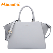 MINANDIO latest design ladies pu leather handbags for women spring 2018 a4 size tote bag