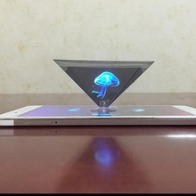 3D layar proyeksi Pyramid hologram Hologram Projector reverse viewer