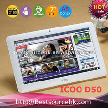 "ICOO D50 Luxury II A13 7"" tablet pc Android 4.0 Allwinner A13 8GB 1.2Ghz 512MB DDR3"