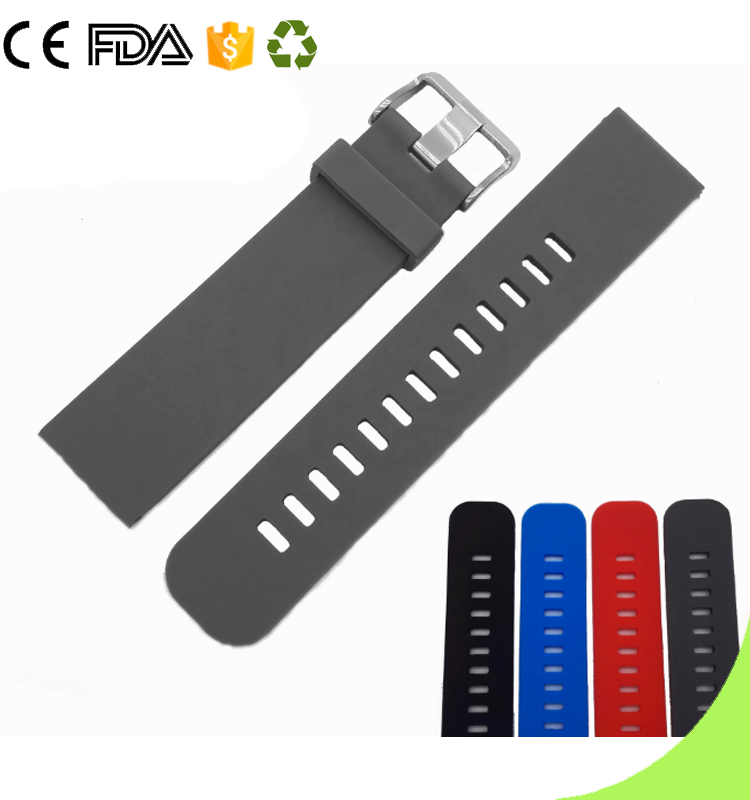 Waterproof sports Switch Spring Bar Silicone Smart watch Bands Strap