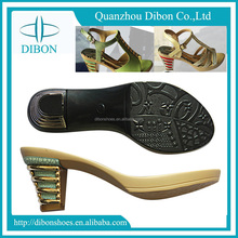 2017 women ladies Style pu soles for sandal shoe making