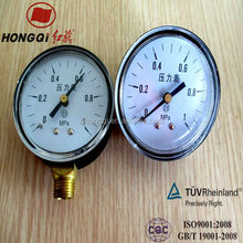 Welding Bourdon tube pressure gauge manometer with long-life and multi-type