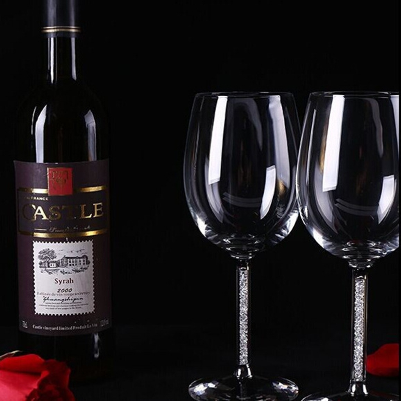 Factory Wholesale Cheap Elegant Decoration Handmade Clear Crystal Wine Glass/Red Wine Glasses