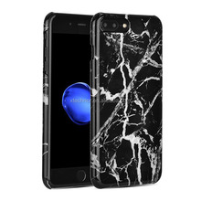 Hot Selling Hard Case For iphone 7 Plus Black Marble Phone cover For iphone 7 Plus Mobile Cover