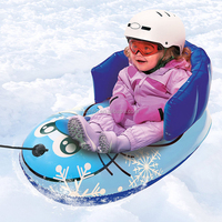 durable winter sport adorable kids pulled inflatable snow sled