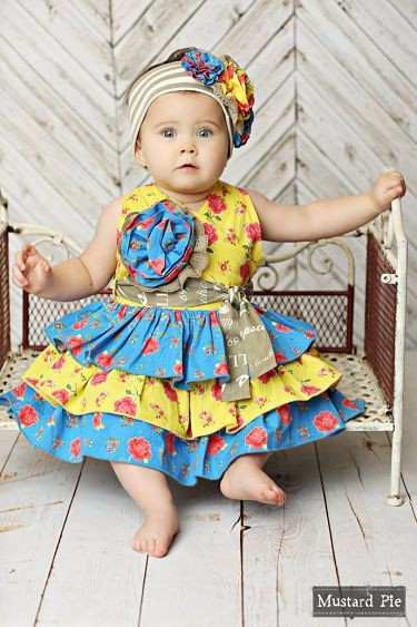 new design high quality headband baby girls party dress