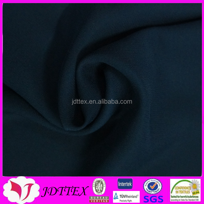 100 polyester black chiffon crinkle crepe fabric for maxi dress